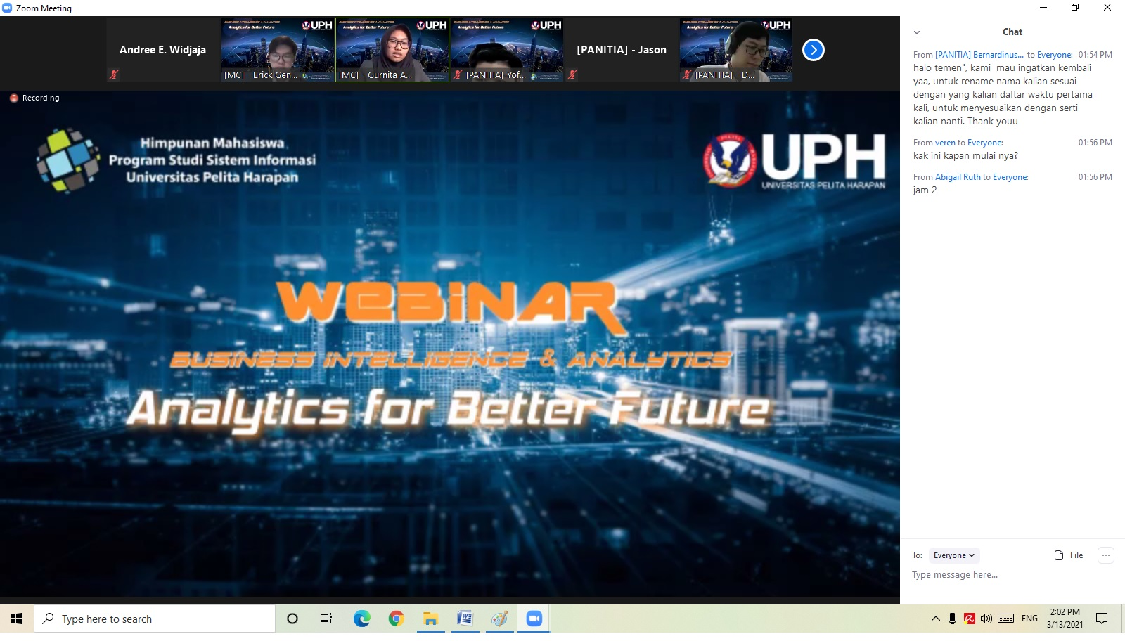 Webinar Business Intelligence & Analytics