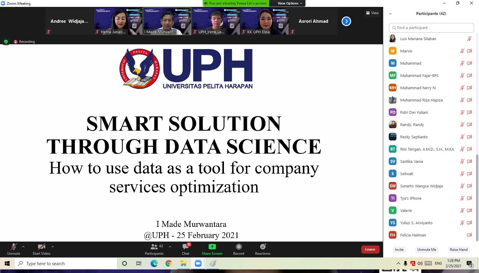 Webinar Smart Solution through Data Science