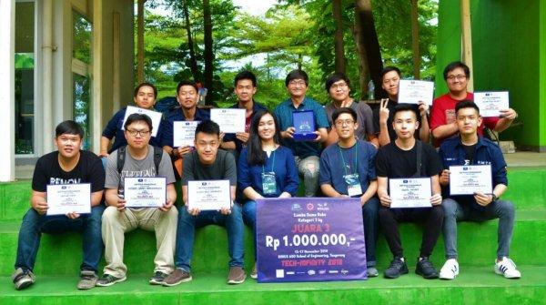 Robot Sumo Karya Mahasiswa Teknik Elektro UPH Juara TECH-INFINITY 2018
