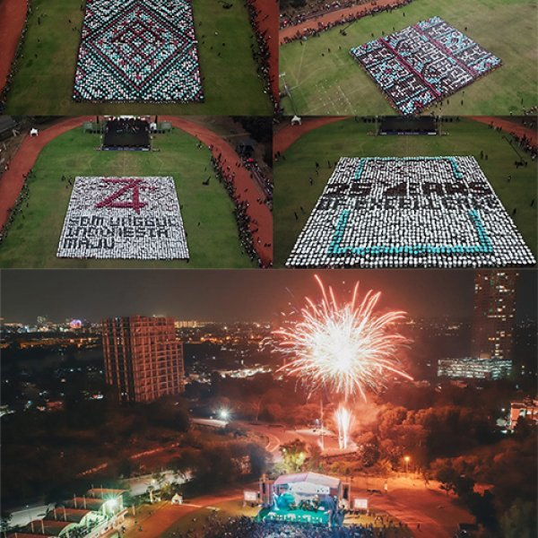 UPH Festival 2019 presents Human Configuration Involving Thousands of Students Showing the Diversity of Indonesian Cultures
