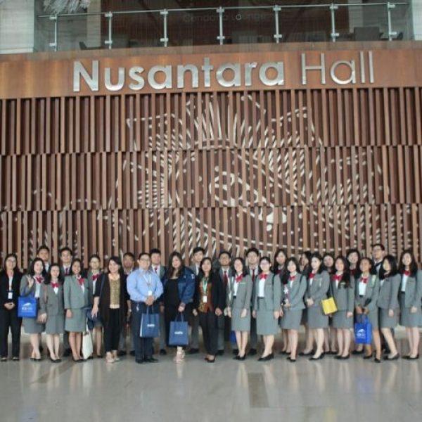 Industrial visit Mahasiswa Manajemen Usaha Perjalanan Wisata UPH ke ICE BSD