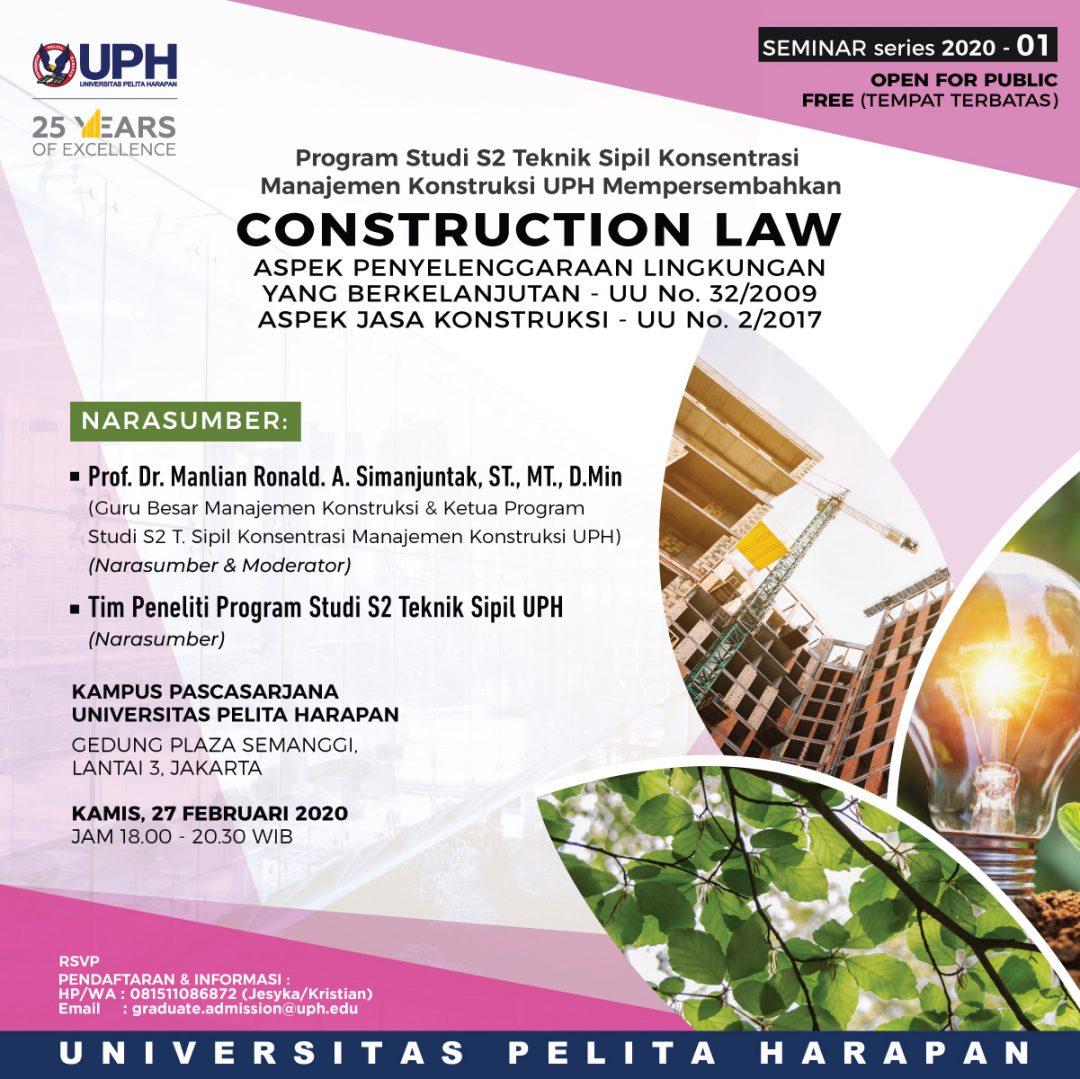 CONSTRUCTION LAW SEMINAR