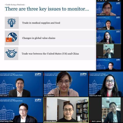 UPH CITI Bahas Dampak dan Tantangan Covid-19 Dari Perspektif Hukum Internasional