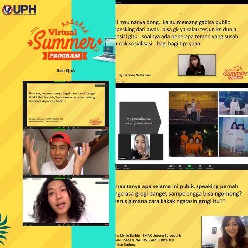 UPH Virtual Summer Program, Ajak 500 Siswa SMA Isi Liburan dengan Produktif