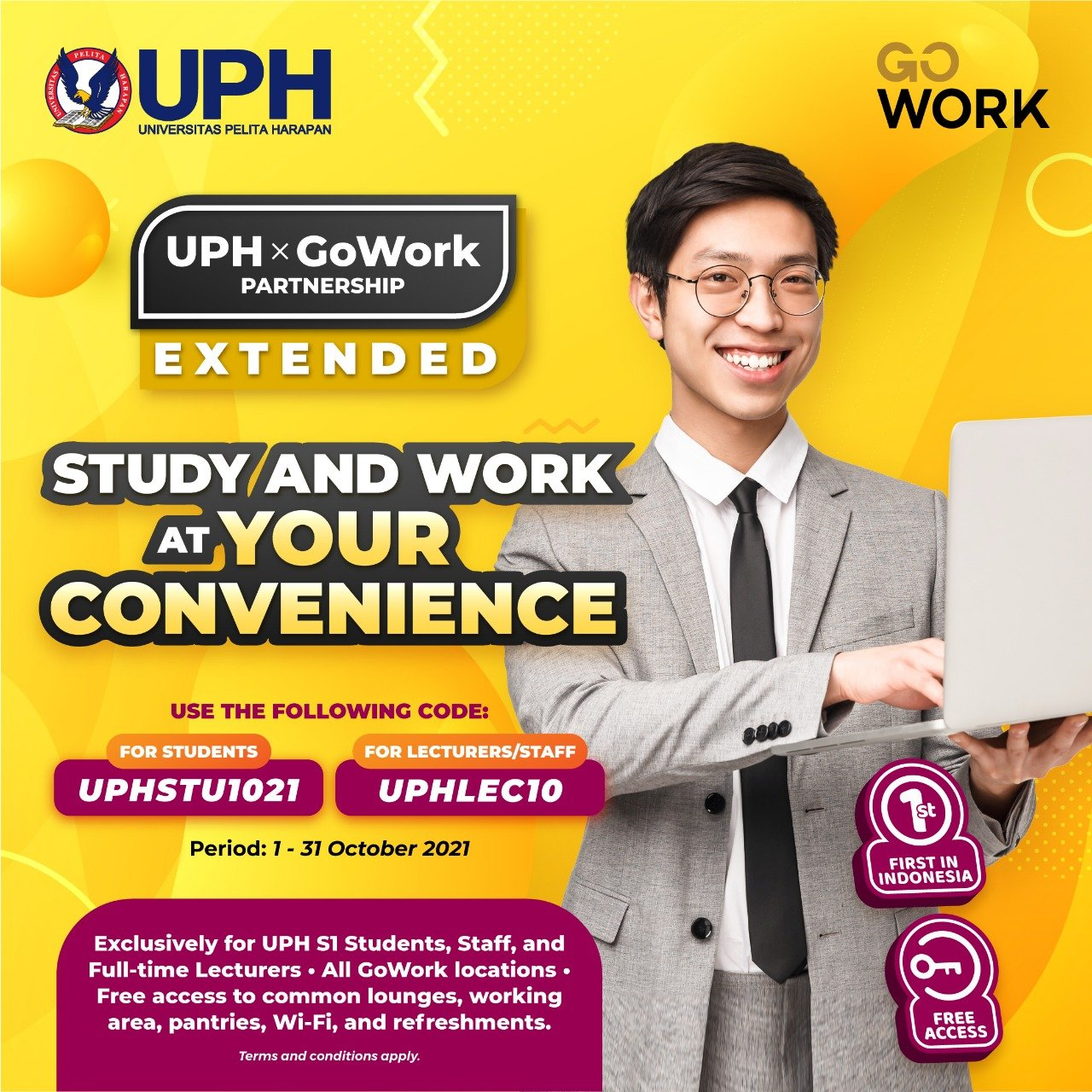 UPH x GoWork to Provide More Student Learning Spaces