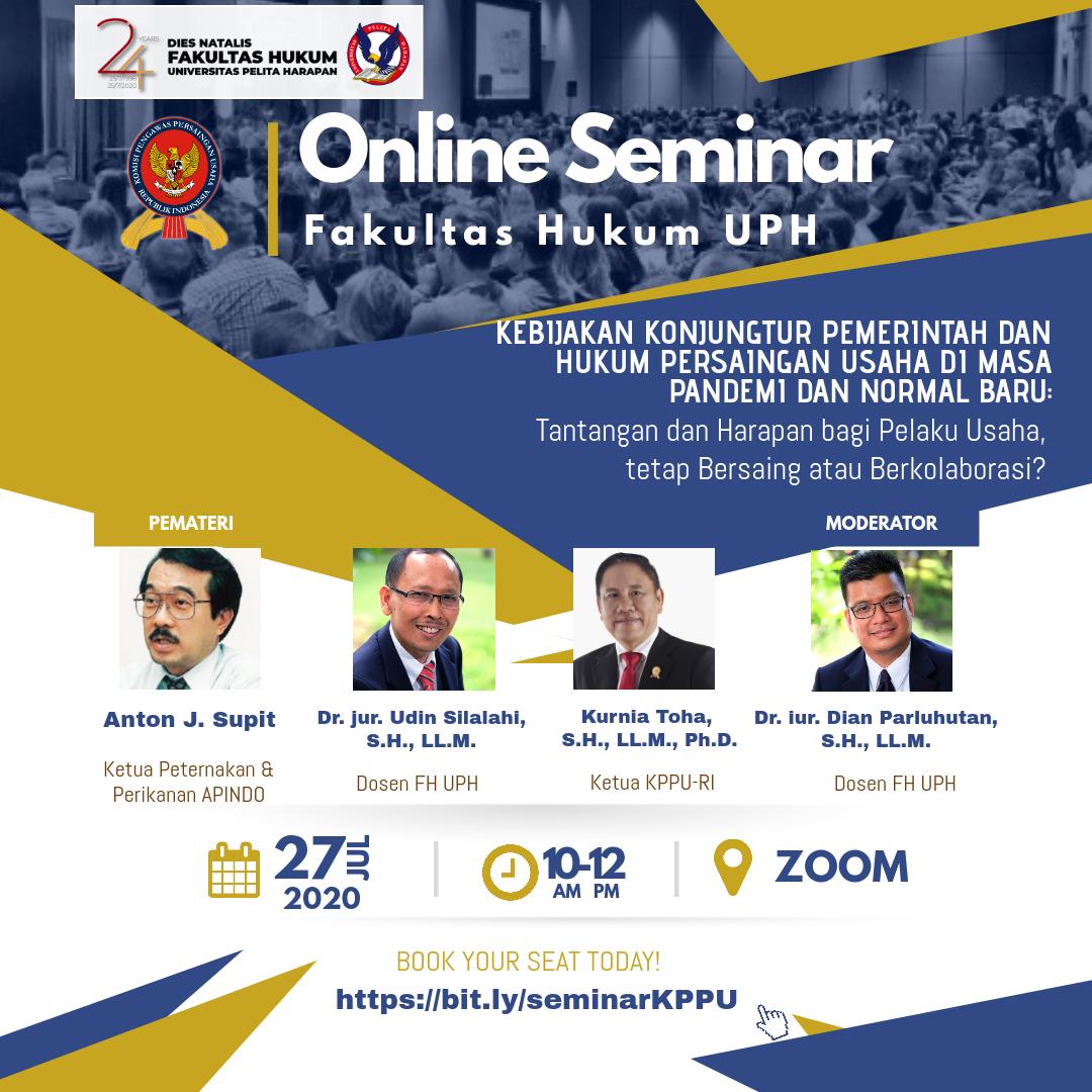 Online Seminar Fakultas Hukum