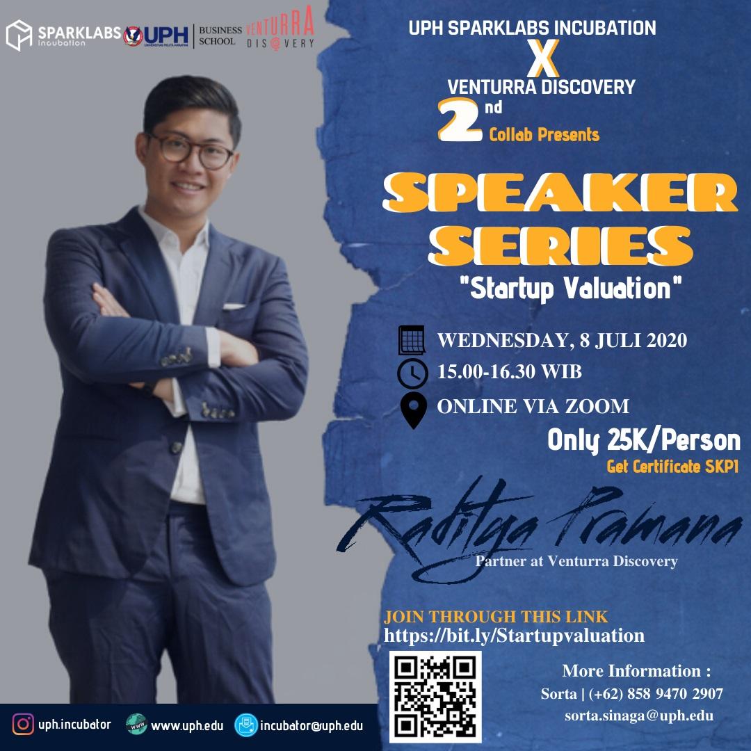 Speaker Series: Startup Valuation