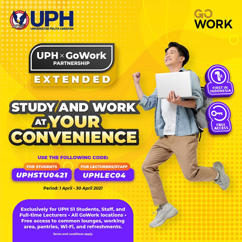 UPH x GoWork Akan Menyediakan Lebih Banyak Ruang Belajar Mahasiswa