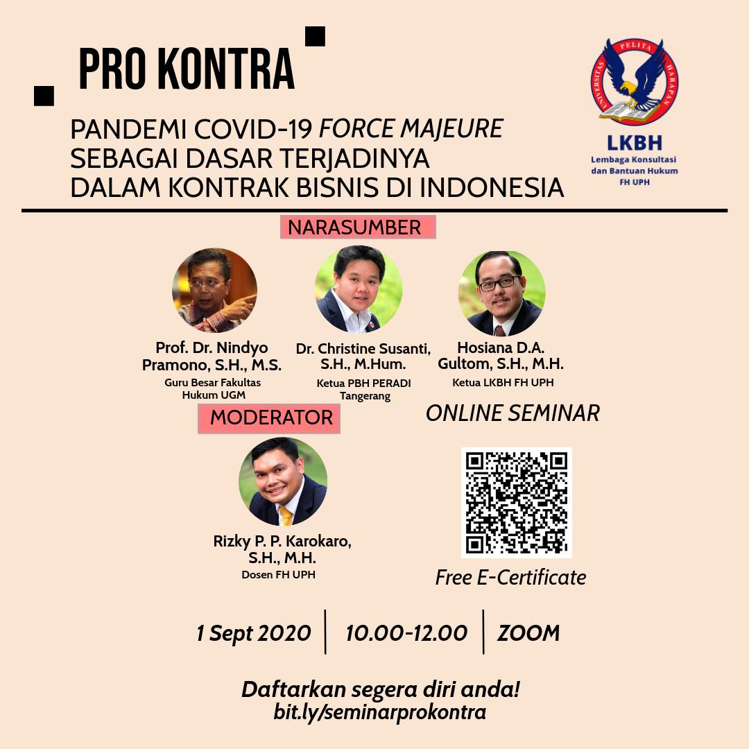 Webinar Pro-Kontra Pandemi Covid-19