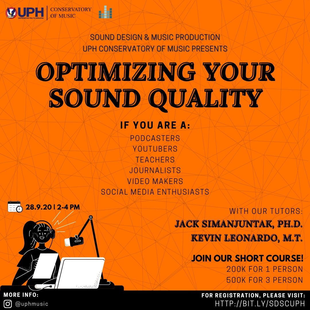 Webinar Sound Design & Music Production: Optimizing Your Sound Quality