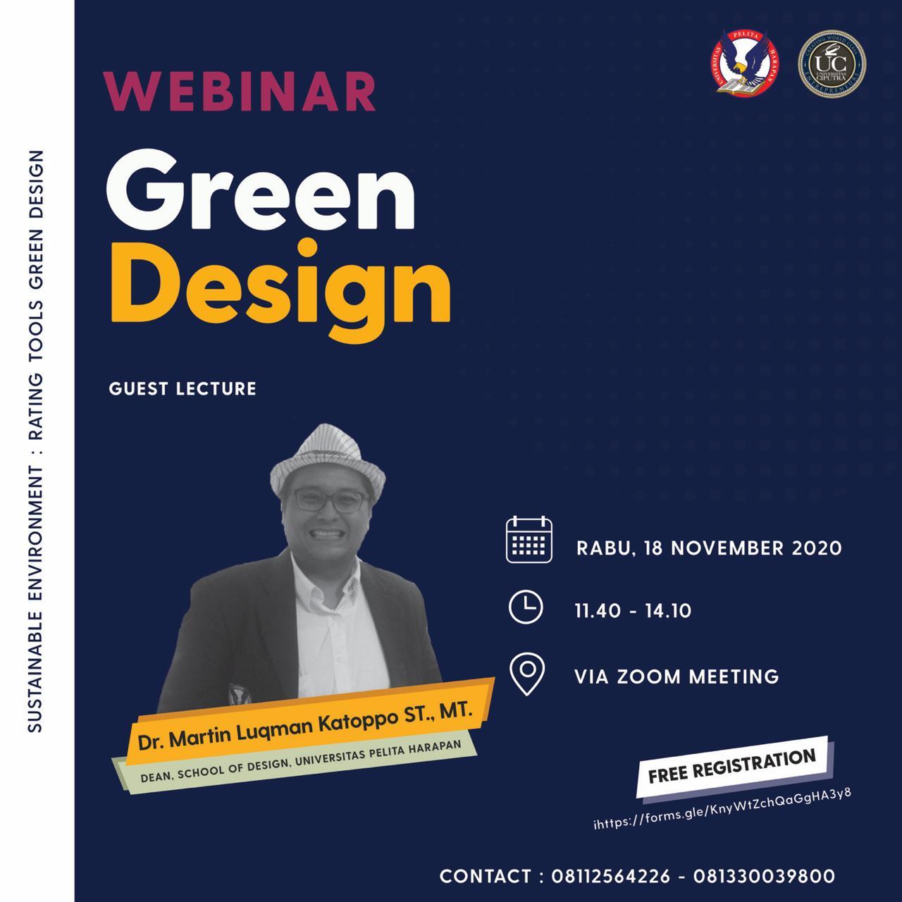 Webinar Green Design