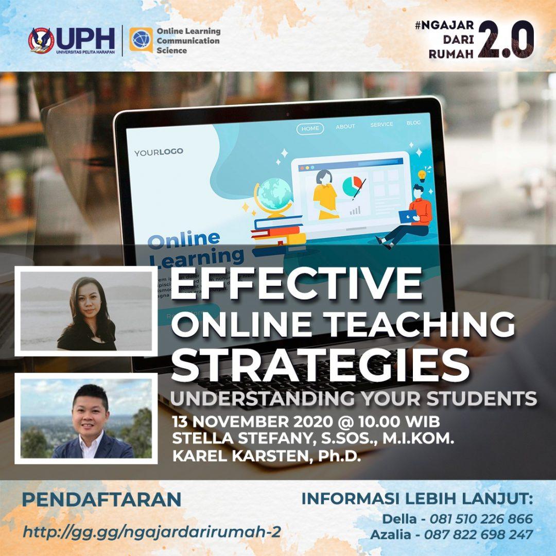 Webinar: Effective Online Teaching Strategies