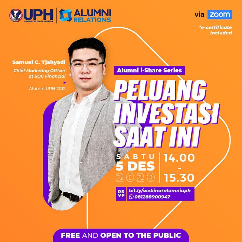 Webinar Alumni i-Share Series: Peluang Investasi Saat Ini