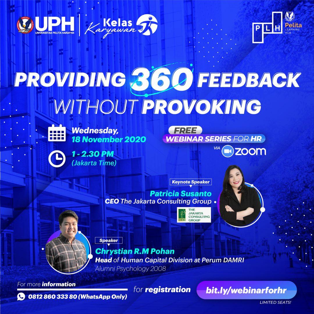 Webinar: Providing 360 Feedback without Provoking