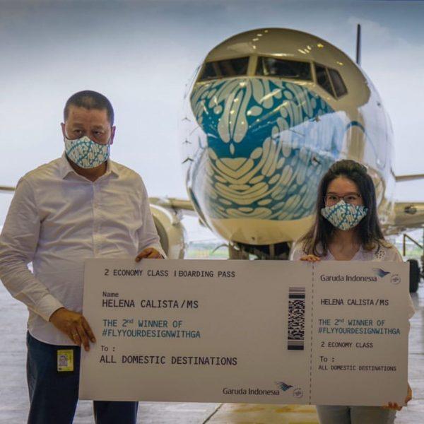 Jadi Juara, Karya Mahasiswi DKV UPH Hiasi 'Hidung' Pesawat Garuda Indonesia