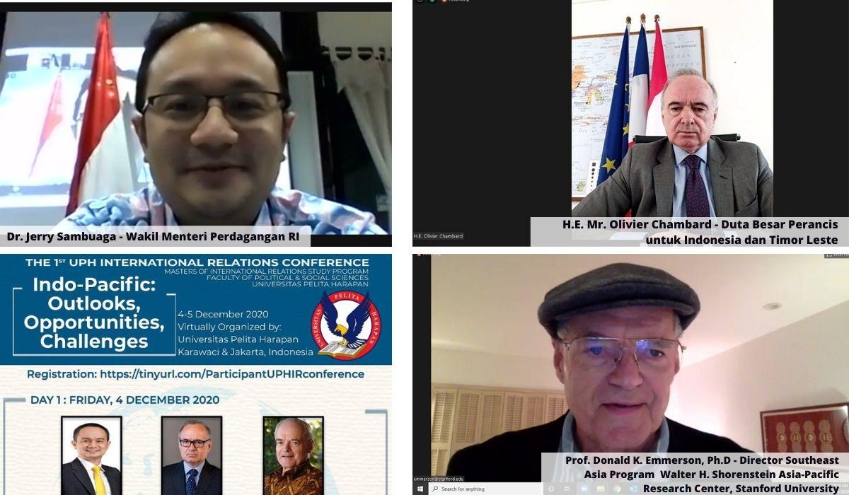 Konferensi Indo-Pasifik Pertama di Dunia,  Hasil Kerja sama UPH Pasca Sarjana Semanggi dengan Kementerian Perdagangan, Kedutaan Besar Perancis Untuk Indonesia dan Timor Leste, AIFIS dan LIPI