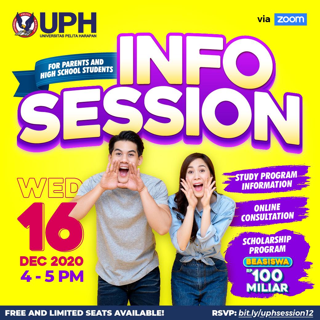 UPH Info Session untuk Para Siswa dan Orangtua