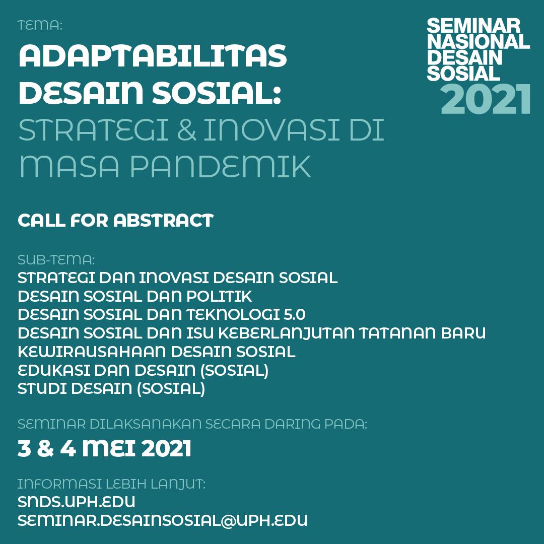 Seminar Nasional Desain Sosial 2021