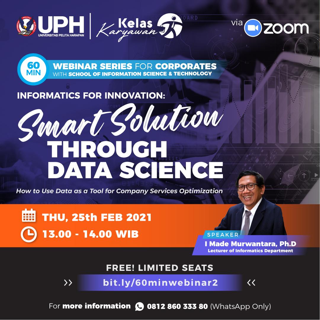 Informatics for Innovation: Smart Solution through Data Science