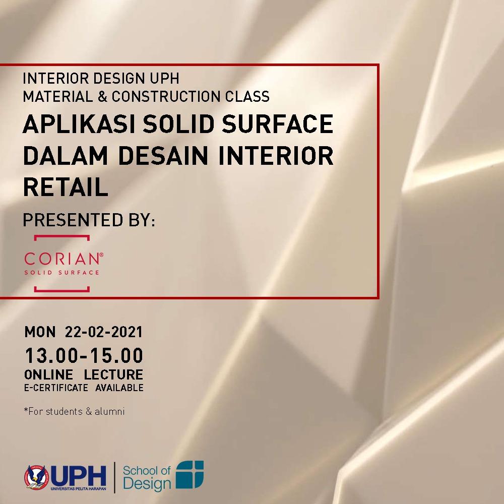 Seminar Material dan Konstruksi (Desain Interior UPH)