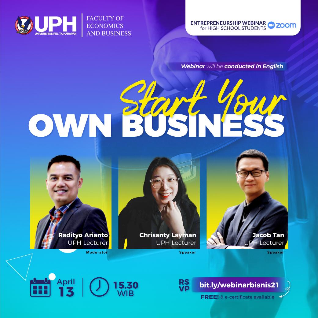 Webinar: Start Your Own Business