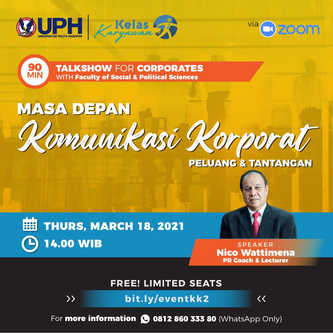 Talkshow: Masa Depan Komunikasi Korporat - Peluang dan Tantangan