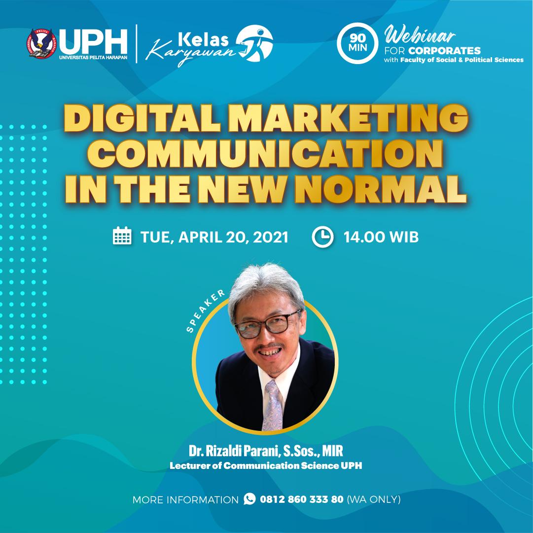 Webinar: Digital Marketing Communication in the New Normal
