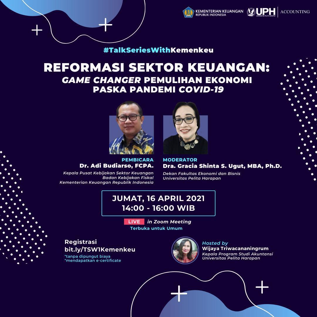 #TalkSeriesWithKemenkeu: Reformasi Sektor Keuangan