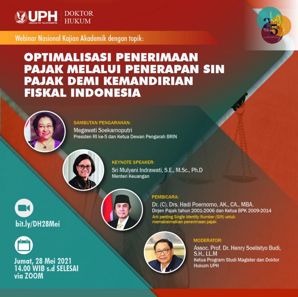 Optimalisasi Penerimaan Pajak Melalui Penerapan SIN Pajak Demi Kemandirian Fiskal Indonesia