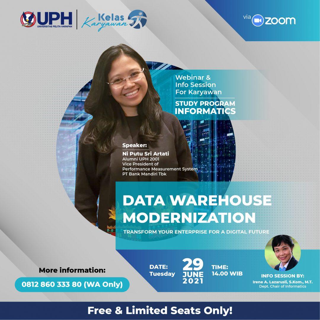 Webinar Data Warehouse Modernization