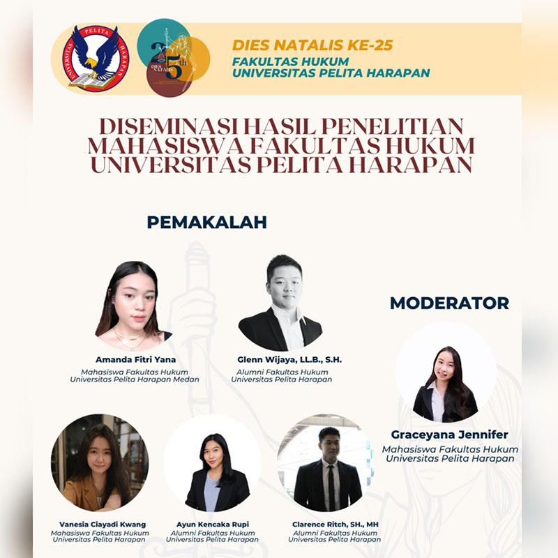 """Dies Natalis FH UPH 25 – """"Diseminasi Penelitian Alumni dan Mahasiswa"""""""