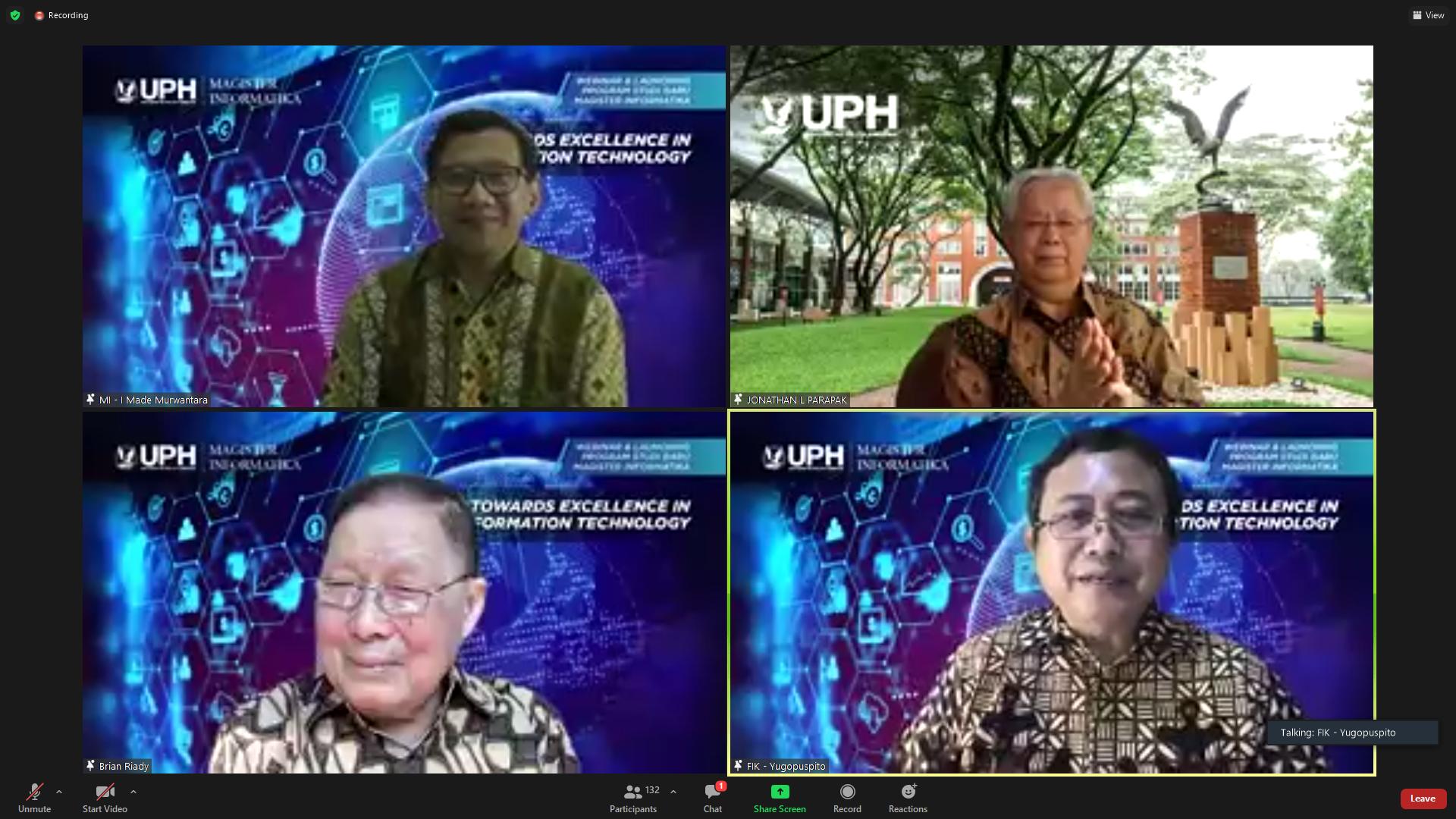 UPH Membuka Program Magister Informatika Sistem Track Master by Research