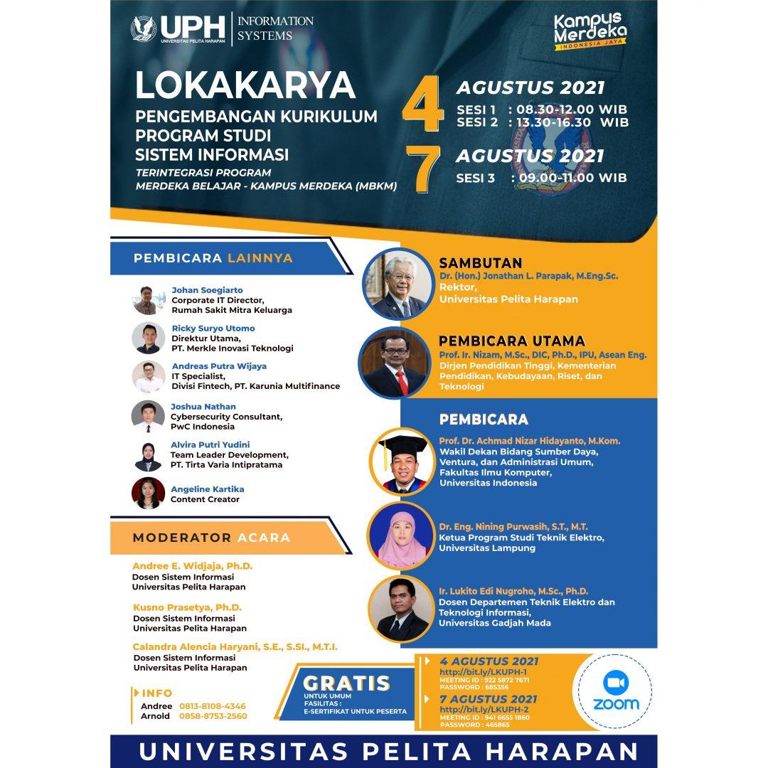 Lokakarya Pengembangan Kurikulum Prodi Sistem Informasi Terintegrasi Program Merdeka Belajar – Kampus Merdeka (MBKM)