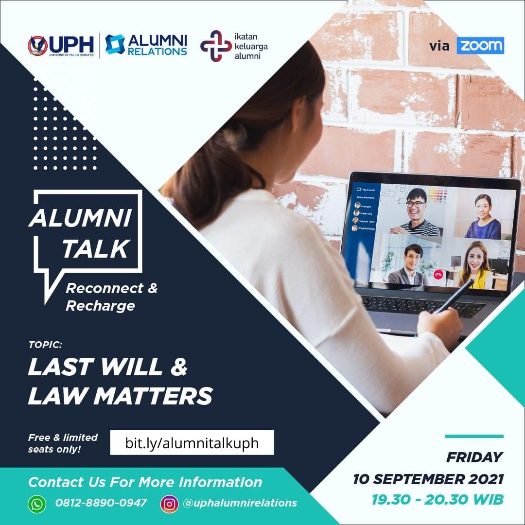 Alumni Talk: Last Will & Law Matters