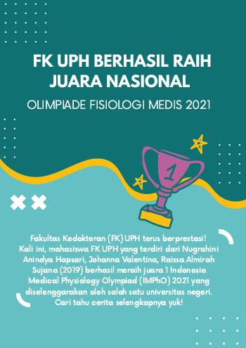 FK UPH Berhasil Juara Nasional Olimpiade Fisiologi Medis 2021