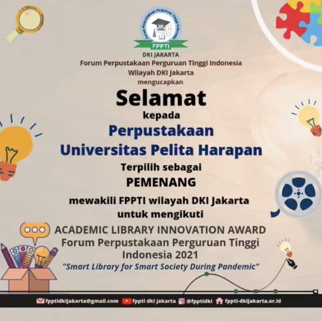 The Johannes Oentoro Library UPH Raih Juara 1 ALIA 2021 Tingkat Provinsi DKI Jakarta